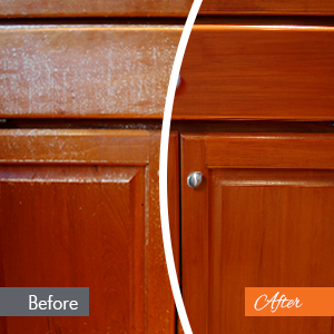 Clic Cabinet Refinishing Before And After