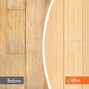 Here is an image of a hardwood floor repair project we completed in manchester NH. The left image shows a before photo where the colors are dull. The right image shows after.
